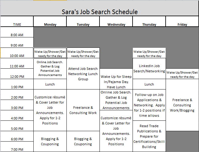 Job Search Schedule